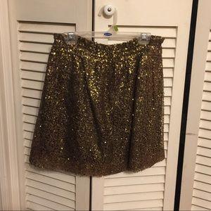 J Crew Bronze sequins skirt